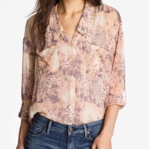 Free People Sheer Button Down